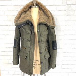 Bershka Outerwear Heavyweight Fur Utility Jacket